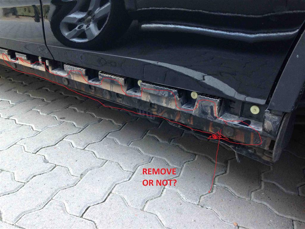 Removing And Replacing Side Skirts