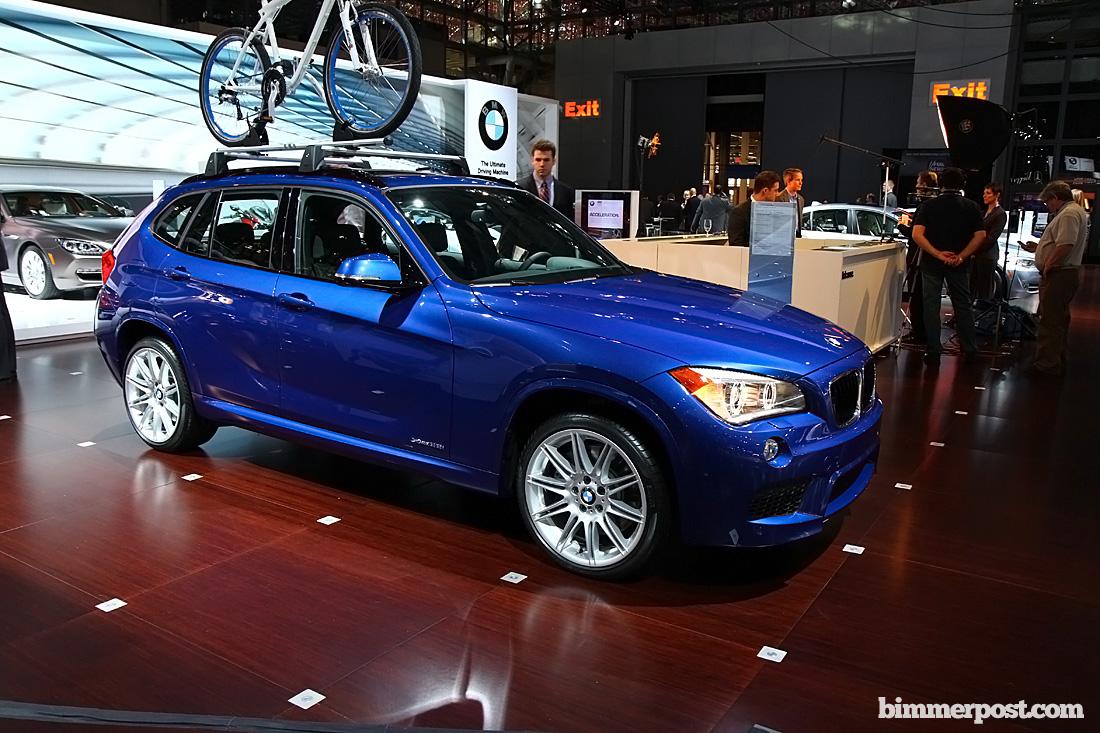 2012 NYIAS: Blue X1 M Sport (and vs. X3)